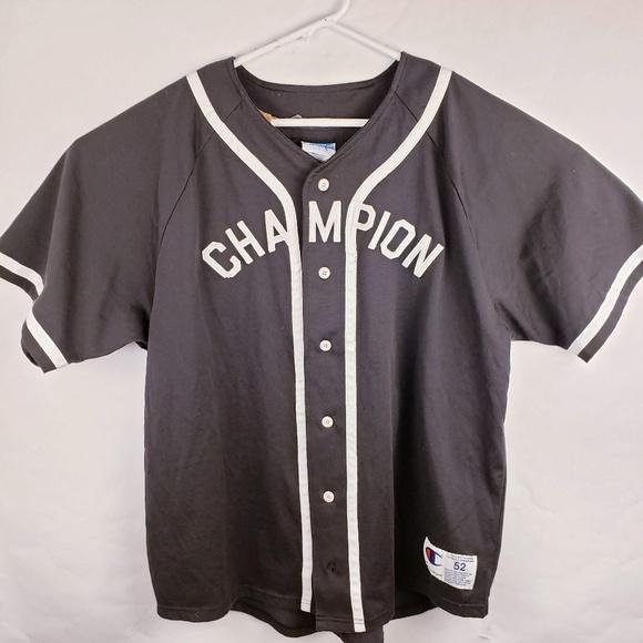 size 40 d67d7 d9a4f Vintage Champion Baseball Button up Jersey RARE!